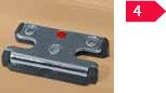 Sicherheits-Schließstücke 4 Sicherheits-Schließstücke für hohen Aushebelschutz