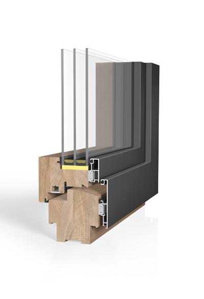 Holz/Alu-Fenster HA109MV SAFE