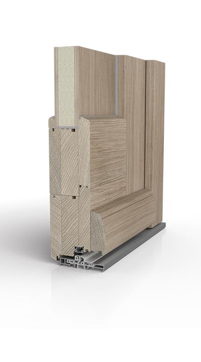 Querschnitt Holzhaustür - Ausführung: Standard
