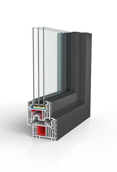 Kunststoff/Aluminium-Fenster BW87 SAFE