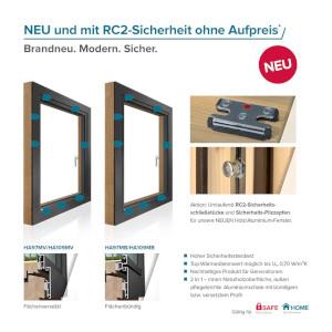 NEUE Holz/Aluminium-Fenster – ohne Aufpreis für RC2-Sicherheitskomponenten*