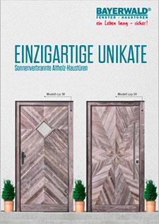 EINZIGARTIGE UNIKATE -<br> Sonnenverbrannte Altholz-Haustüren